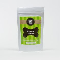 KISS ME CHEWS protect your pet's pearly whites every day, reduce foul breath and help maintain a clean intestinal environment. Kiss Me Chews research-based formula supports a healthy mouth, teeth and gums with a taste dog's love! Contains natural ingredients in a research-based formulathat includeschlorophyll and organic prebiotics that go work in the digestive system to control doggy breath. CLICK LINK FOR MORE INFO