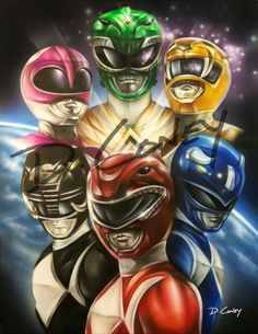 The Mighty Morphin' Power Rangers #SonGokuKakarot