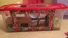 Making a DIY hamster cage (Bin Cage)