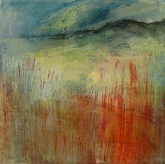 Original Abstract Landscape Painting. Oil on by JuliaPoultonArt