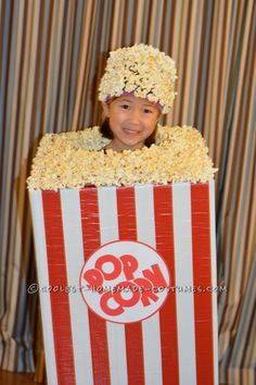 Awesome Child's Popcorn Halloween Costume… Coolest Halloween Costume Contest