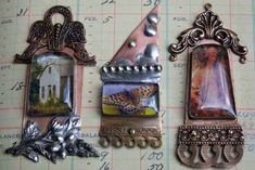 Of Towers and Turrets...online mixed media art jewelry class. Deryn Mentock. Sharon Tomlinson.  http://somethingsublime.typepad.com/jewelry_works/of-towers-and-turrets.html