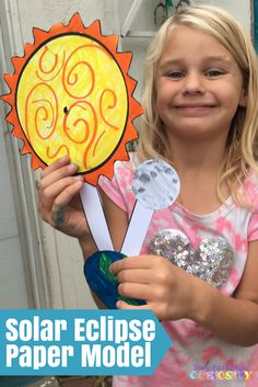 Solar Eclipse Paper Model – Only Passionate Curiosity 1st Grade Science, Preschool Science, Teaching Science, Science Activities, Science Projects, Teaching Resources, Solar System Activities, Solar System Projects, Solar Eclipse Model