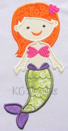 Mystical Mermaid 04 Machine Embroidery Applique by KCDezigns, $3.50