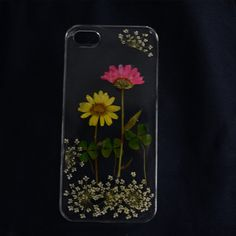 Pressed flowers iphone 5 case iphone 5s case clear by HANSHOP, $12.99