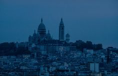 The Sacré-Cœur Basilica, which I photographed at night from Parc des Buttes-Chaumont. We had to stay in this park past closing hours to get this shot, so we ended up getting locked inside the park and having to creatively escape...