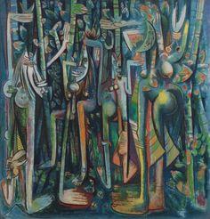 The Jungle 1943.  (239.4x229.9cm)