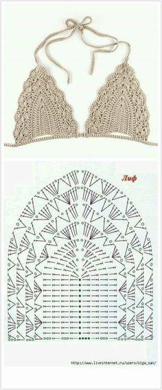 Crochet Beret, Crochet Bikini Pattern, Crochet Jacket, Crochet Crop Top, Crochet Diagram, Crochet Motif, Crochet Flowers, Crochet Patterns, Crop Top Pattern