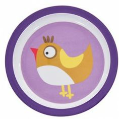 SEBRA Toddler Melamine Large Plate Purple  --- Toddler melamine large plate from Sebra  Denmark. Available in Blue and Purple
