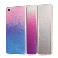 For Huawei P8 Lite Case Silicon Glitter Cover For HUAWEI Ascend P8 Lite Case P8 Mini Luxury Phone Case Blue Ray Soft TPU Fundas