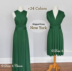 Green Emerald Bridesmaid dress, convertible dresses, infinity dresses, party dress, prom dress, multiway dress, cocktail dress, evening dres