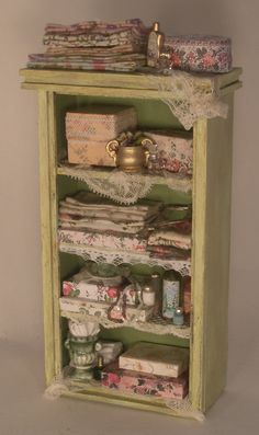 Ladies Cabinet by Serna Sheridan - $161.00 : Swan House Miniatures, Artisan Miniatures for Dollhouses and Roomboxes
