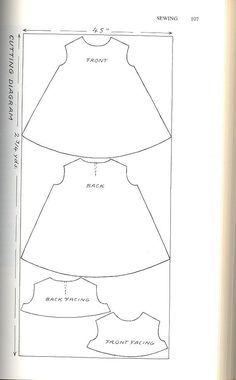 Manic Pop : DIY Trapeze Dress Related posts:How To Wind a Singer Featherweight Bobbin (Getting to Know Your Featherweight, Part to Service a Sewing MachineEKG heart beats for sewing machine embroidery design. Baby Dress Patterns, Baby Clothes Patterns, Baby Doll Clothes, Sewing Clothes, Clothing Patterns, Sundress Pattern, Barbie Clothes, Sewing For Kids, Baby Sewing