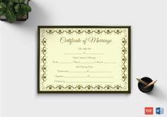 Marriage Certificate Format (in English) – Doc Formats Certificate Format, Wedding Certificate, Gift Certificate Template, Marriage Certificate, Certificate Design, Free Printable Gift Certificates, Baby Announcement Cards, Specialty Paper, Marriage Relationship
