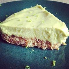 raw vegan key lime pie with macadamia nut crust