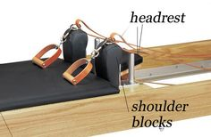 The Anatomy of a Pilates Reformer: Head Rest and Shoulder Blocks