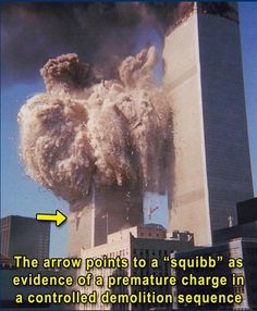 Detonations occurred all the way down the Towers as it does in demolitions. Demolition trucks were seen at the Twin Towers for months before 9/11.