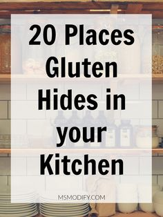 20 Places Gluten Hides in your Kitchen If you are diagnosed with celiac disease, you will surely feel overwhelmed by … Best Gluten Free Recipes, Gluten Free Diet, Foods With Gluten, Gluten Free Cooking, Gf Recipes, Spinach Recipes, Celiac Recipes, Gluten Free Menu, Bariatric Recipes