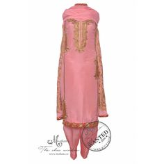 Ethnic pink salwar suit adorn in zari ambi embroidery-Mohan's the chic window