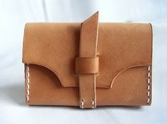 hand made leather card holder by LoraynLeather