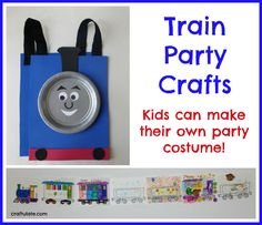 Train Party Crafts - fun for a birthday party!