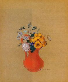 Odilon Redon, Flowers in a Red Pitcher, 1900