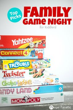 Having a family game night is a great way to get your whole family together to have some fun. Deciding on age appropriate games that everyone will enjoy. Here are some top picks for having a family game night for toddlers!