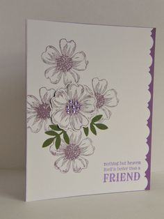 Stampin up Pansy card