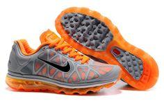429889-008 Women Nike Air Max 2011 Wolf Grey Black Total Orange AMFW0222