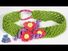 Diademas Tejidas a Crochet Vinchas y Cintillos Diademas de flores Manual...