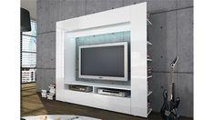 Wohnwand TV-Medienwand Olli in Hochglanz Weiß