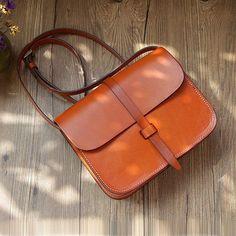 bag closing Vintage leather bag women leather bag handmade by OrisDesigns