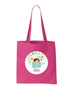 0bd3113a31 Look at this Brown Haired Girl Personalized Library Bag on  zulily today!