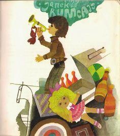 Illustration by Zbigniew Rychlicki, Title: Bajki z zaczarowanego rękawa, Author: Oldrich Syrovatka Polish, Illustrations, Create, Children, Books, Poster, Fictional Characters, Art, Young Children