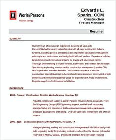 Construction Management Resume Finance Entry Level Project Management Resume  Entry Level