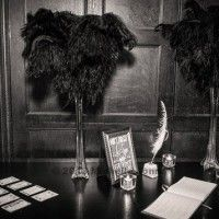 Show Ad - Decor - USA - Brooklyn - New York - Great Gatsby / Roaring 20s decorations - including ostrich feather centerpieces   Weddingbee