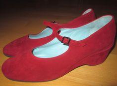 * * * Thierry Rabotin Velours-Riemchenpumps rot, Gr.39,5 * * * | eBay Wedges, Ebay, Shoes, Fashion, Velvet, Clothing Accessories, Ladies Shoes, Moda, Zapatos