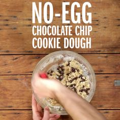 Meet your new favorite sweet treat: No-Egg Chocolate Chip Cookie Dough. Use it to enhance your ice cream, milkshake, buttered toast or to serve as the filling of a cookie sandwich!