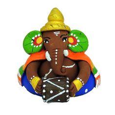 Terracotta Musician Ganesha God Idols & Statues
