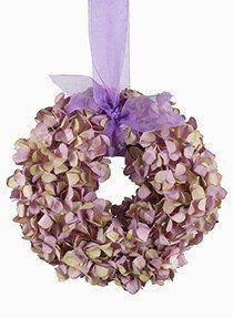 lilac green hydrangea wreath LST907075-LIL-GRN