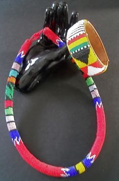 Ethnic Handmade Patterned Bead Rope Necklace and Bracelet • South African Zulu | eBay