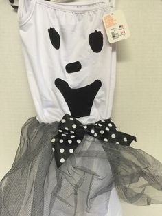 Girls Toddler Halloween Ghost Satin Dress Costume Size 4 5 Villains Headband | eBay