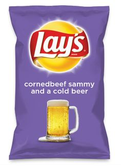 Wouldn't cornedbeef sammy and a cold beer be yummy as a chip? Lay's Do Us A Flavor is back, and the search is on for the yummiest chip idea. Create one using your favorite flavors from around the country and you could win $1 million! https://www.dousaflavor.com See Rules.