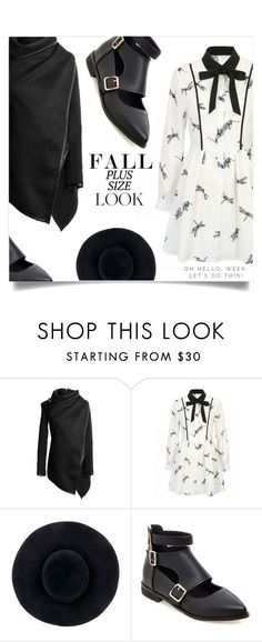 """""""Fall Look: Plus Size Dresses"""" by dolly-valkyrie ❤ liked on Polyvore featuring Eugenia Kim and dress"""