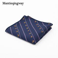 #AliExpress Mantieqingway Paisley Flower Dots Pattern Handkerchief Men Business Suit Polyester Pocket Square Navy Stripe Red Handkerchiefs (32672631756) #SuperDeals