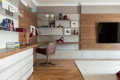 sala de estar com home integrado