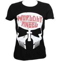 Tech N9ne - Black Worldly Angel Ladies T-Shirt 24.99