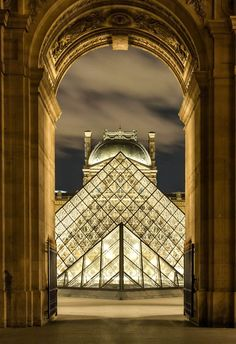 Louvre, Paris, France, by Europe Trotter Beautiful Places In The World, Places Around The World, Wonderful Places, Around The Worlds, Louvre Pyramid, France 3, Time In France, Paris France Travel, Oise
