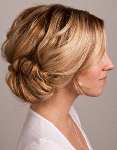 chignon hairstyles, low bun hairstyles - side chignon