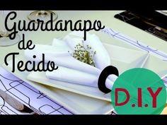 COMO FAZER GUARDANAPO DE TECIDO DIY - FABRIC NAPKIN   #POCFazendoArte Ep...